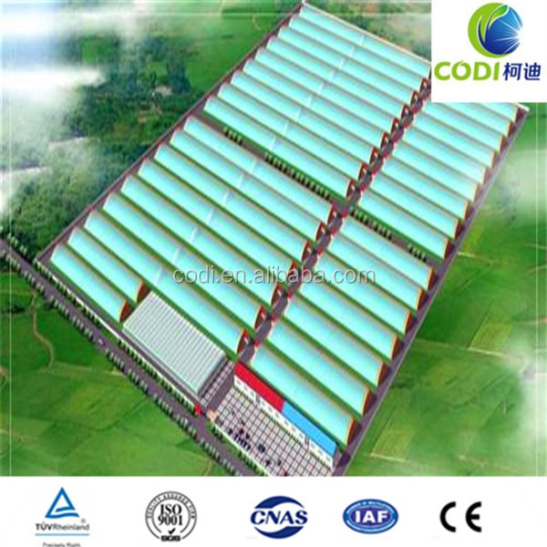 Poly film Greenhouse for intensive agriculture