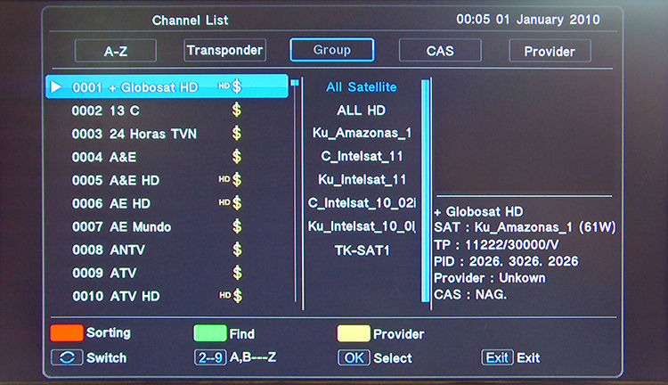 NEW!!!ACM digital satellite receiver support iks sks iptv for free for south america