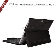 fast selling exquisite hand-made folio 100% protective stand leather case for microsoft surface pro with Pen Stylus