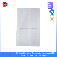 take away delivery white paper bag for heated fast food