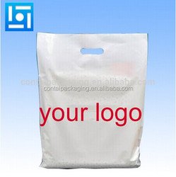 Top selling door gift / party / shopping pe ldpe hdpe die cut plastic pocket with your own design