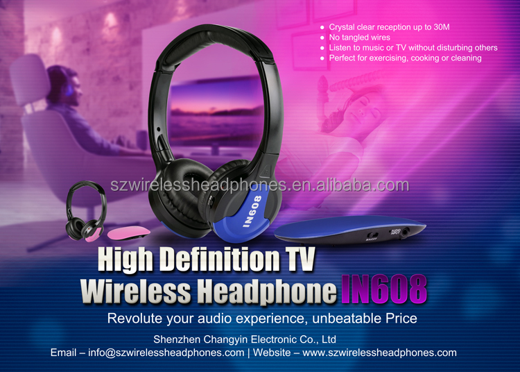 Cheap 2017 Wireless Headphone For LCD TV CD DVD 30M
