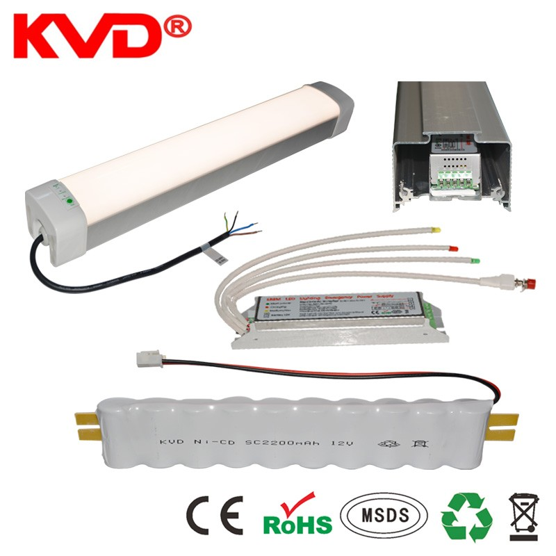 Emergency Power Battery Pack/Conversion Kit For LED Lighting Tube