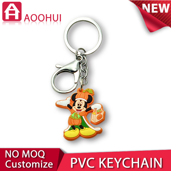 High-end die casting custom size soft pvc key chain