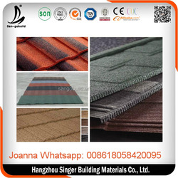 Whole Sell stone coated metal roof/stone roof tile/Building Materials for roofing