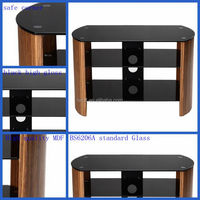 Modern elegant wooden lcd tv stand design BS6206A glass tv table ZW006