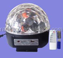 MP3 Player Control Led stage light/ LED Crystal Ball Light