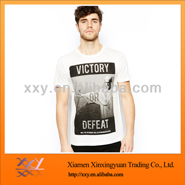 Best-selling Europe and the United States fashion people printing white men's T-shirt