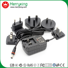 new design UL,CE,SAA 12W interchangeable plugs adaptor 6V 2A 12V1A Switching Power AC/DC Adapters