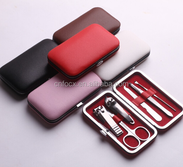 6PCS Nail Clipper Manicure Grooming Kit / nail Pedicure Set / nail manicure case