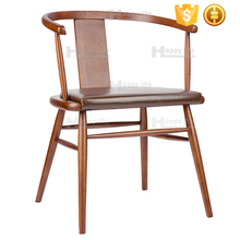 High quality restaurant dining room furniture solid ash wooden chairs with arms