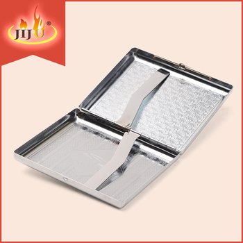 JL-004N yiwu jiju china supplier can pack 20pcs cigarettes metal cigarette box