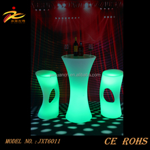 CE&ROHS approved illuminated plastic led cocktail table for party,events