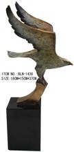 BLN-1438 small bronze Eagle figurines metal animal ornaments for home