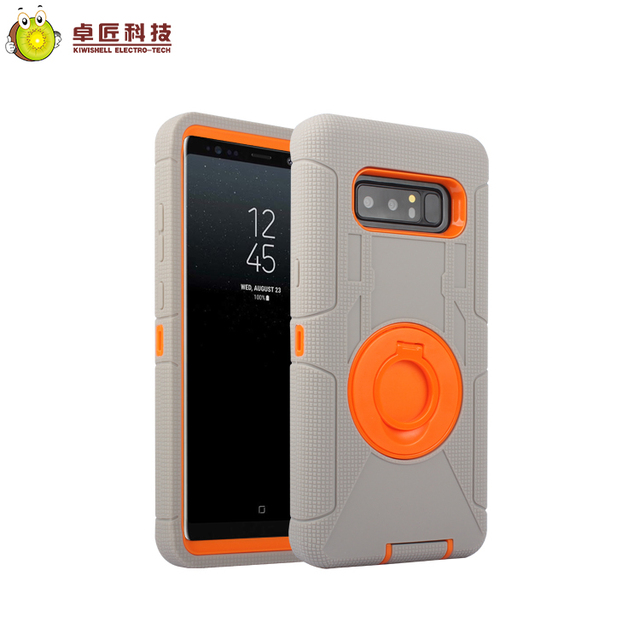 For samsung galaxy note 8 case mobile phone with kickstand 2 in one full cover pc silicone