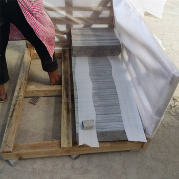 Factory supply Chinese blue limestone flamed +brushed tiles 40x60x3cm
