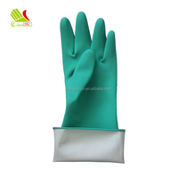 Excellent nitrile work cut and chemical resistant gloves with flock lined