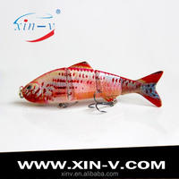 colorful free samples fishing lure machine 's' swim action