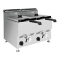 Stainless Steel Double Basket Gas Deep Fryer
