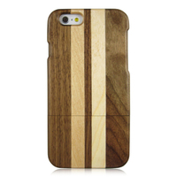 Unique design, black walnut wood case maple wood case, mix wood back cover for iphone 6