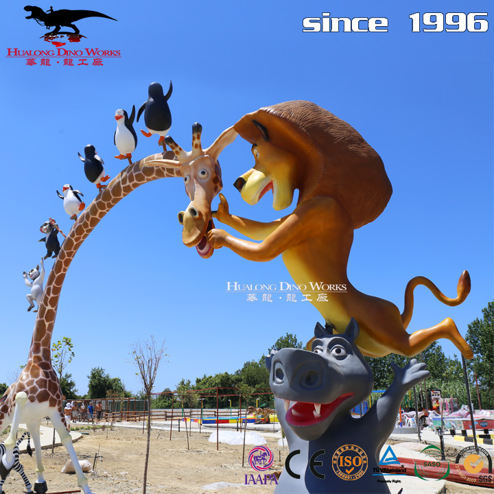 Vivid Cartoon Charater Sculpture For Exhibition