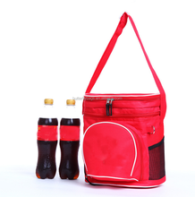 wholesale waterproof PEVA thermal disposable lunch insulated cooler bag with with drink holder