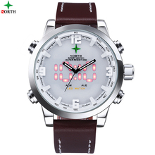 6017 analog digital led sport stainless steel back 3atm water resistant quartz watch