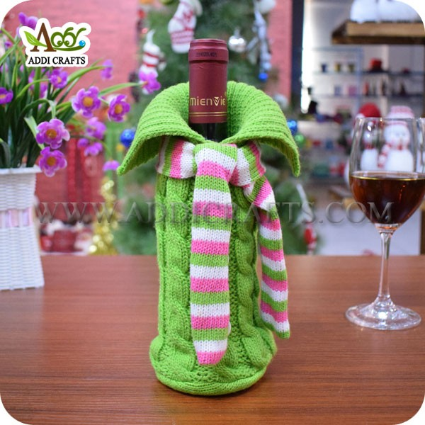 Christmas Wine Bottle Covers Wholesale Christmas Knitted Wine Bottle Covers