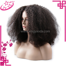 Factory Price Brazilian Virgin Hair Kinky Curly Full Lace Wig