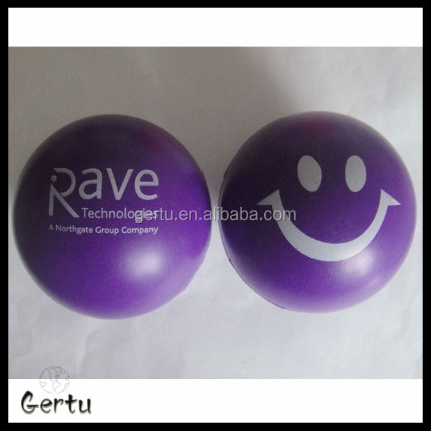 promotional 6.3cm cute smile face anti stress balls