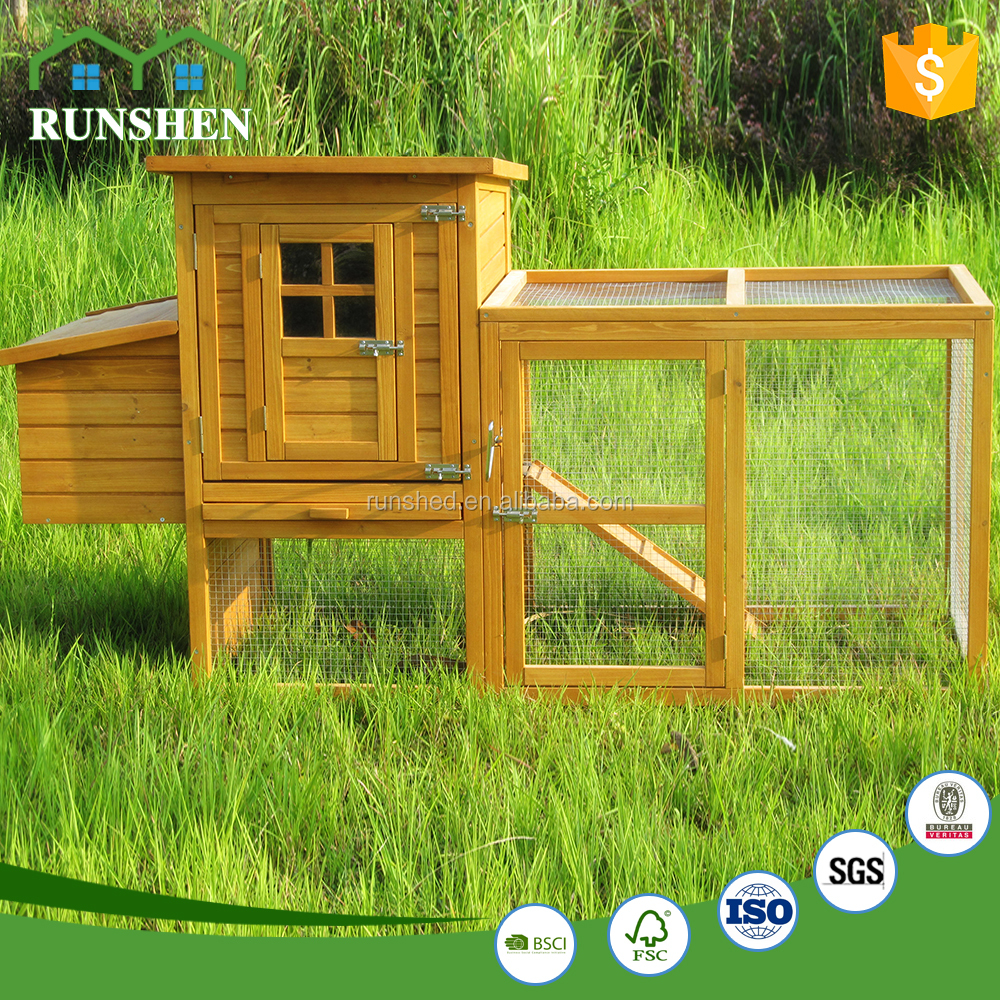 High quality wholesale wooden chicken coops/wooden bird houses with run cage