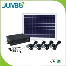 5w solar lighting kit with mobile charger