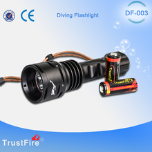 TrustFire underwater equipment DF003 diving Led flashlight 3000LM strong brightness Lantern