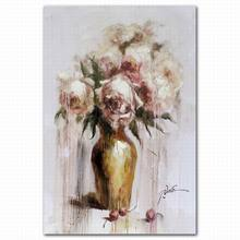 Home decor peony flower vase abstract oil painting pictures on canvas
