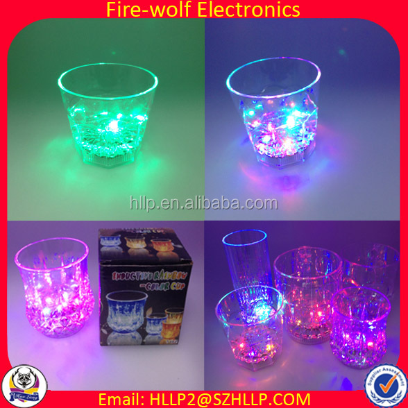 Hot selling Party led glass,water activatel led shot glass,Wholesale bar led champagne glass