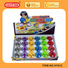 HY612 Top Selling Sharp Shooter Flashing Toy Spin Top 24PCS
