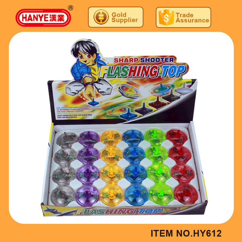 Top Selling Sharp Shooter Flashing Toy Spin Top 24PCS