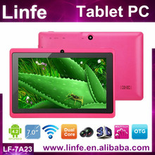 China products hot selling dual core capacitive 7 inch tablet