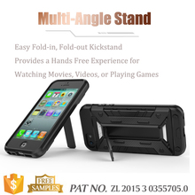 Multi-function kickstand card holder bumper case for iphone 5 cover