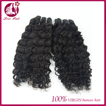 Natural color new arrive top quality and beautiful 100% natural color deep wave virgin brazilian hair weft