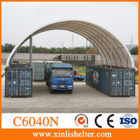 C6040N Strong standiong legs large clear span dome container shed