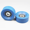 Factory Sale High Quality 75 degree Blue 638RS PU Caster Roller Wheel