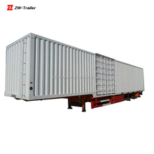 cargo box semi trailer for carrying home appliances, textiles, and building materials