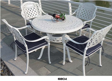 NEW! 3 PIECE TULIP CAST ALUMINUM BISTRO SET - ANTIQUE COPPER - 4 CHAIRS + TABLE HL-6804