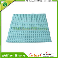 high quality Anti-slips silicone bathroom mat with blocks design factroy