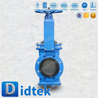 Didtek cast iron slurry knife gate valve with drawing