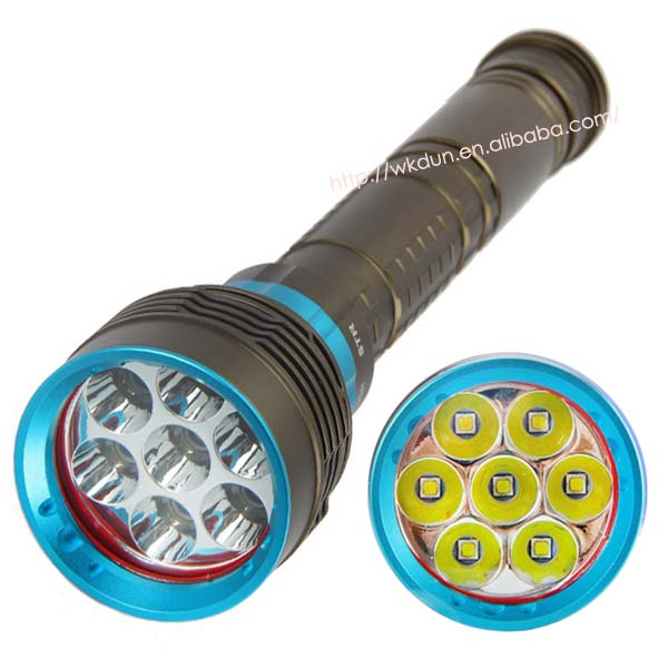 7000lumens Underwater Diving Flashlight Torch 7x C REE XM-L T6 LED 3 Modes Waterproof Light Lamp