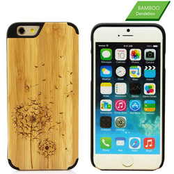 Mobile Phone Accessories Luxury Natural Laser Engraving Real Wood Phone Case Cover For iPhone 6 6s