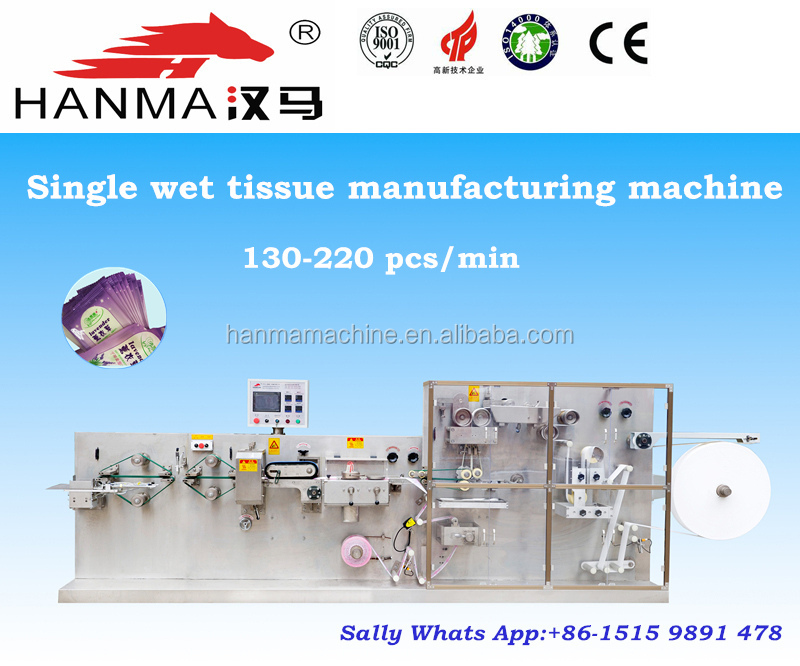 Restaurant single wet tissue paper manufacturing machine with counting and packing machine
