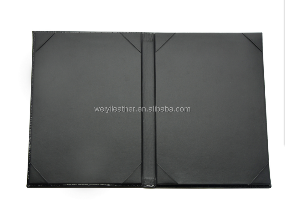 A4 Size Menu Folder Crocodile Leather Restaurant Menu 4 View Food And Drink Leather Menu Cover